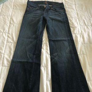 Seven for All Mankind Slim Trouser Sz 26 *hemmed*